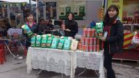 Trà sâm dứa tại hội chợ Tết Giảng Võ 2016
